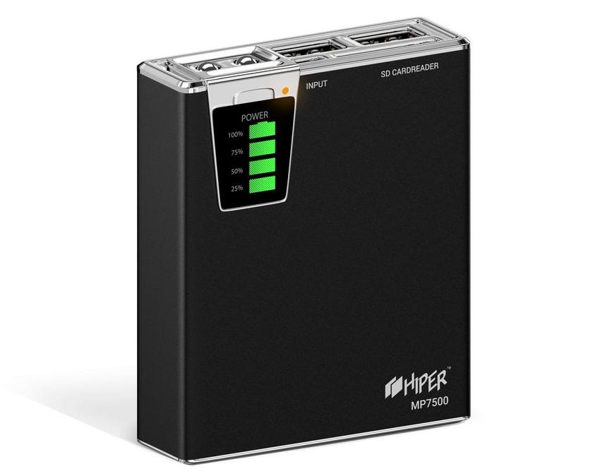HIPER POWER BANK MP7500 BLACK